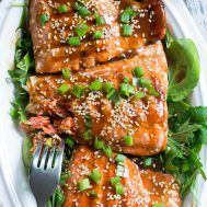 Grilled Teriyaki Salmon {Paleo, Whole30} | The Paleo Running Momma