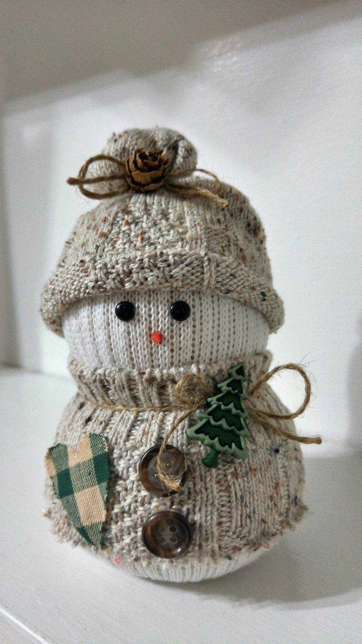 Cute sock snowman More Cute sock snowman