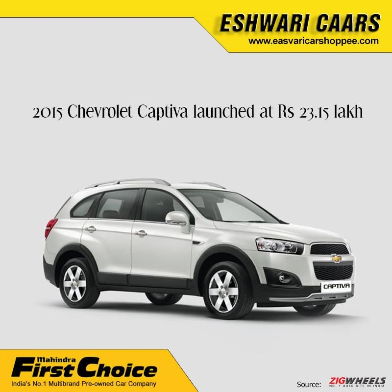 2015 Chevrolet Captiva Launched At Rs 23 15 Lakh Chevrolet