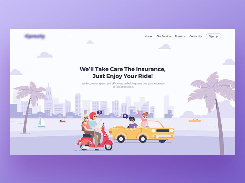 Insurance Landing Page Illustration Website Illustration Web Inspiration Web Graphic Design