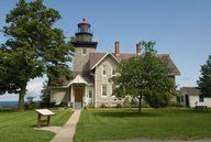 Thirty Mile Lighthouse, shown here, is located in Golden Hill State Park and available for vacation rentals.