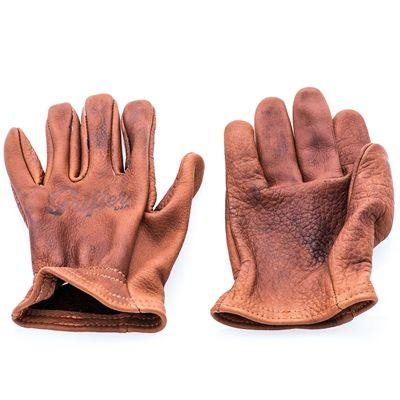 Grifter The Scoundrel Motorcycle Gloves American Bison Leather Bison Leather Motorcycle Gloves Leather Gloves