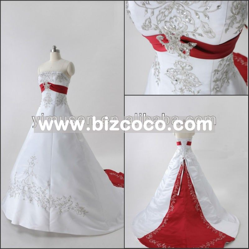 Red An White Wedding Dress And Bridal Gowns For