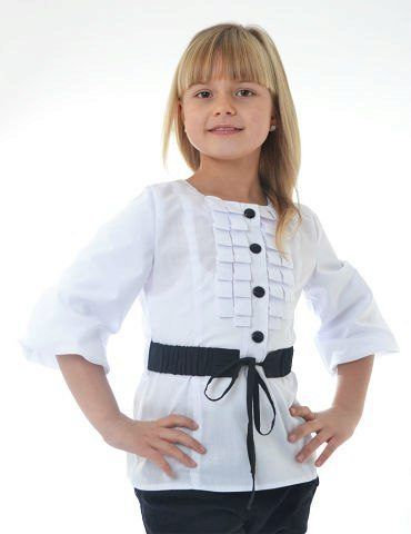 0950a19dfa8 Блузки для девочек для школы (58 фото)  школьные блузы