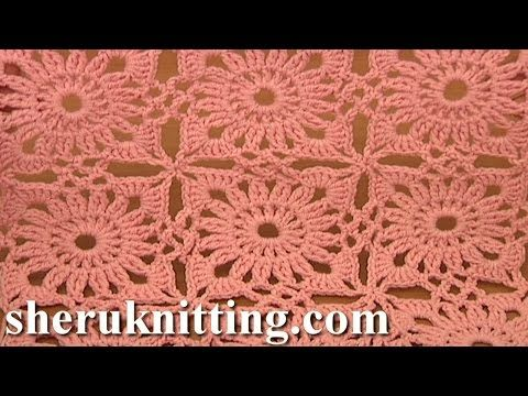 Invisible Method Of Square Motif Joining Crochet Tutorial 4 Part 2