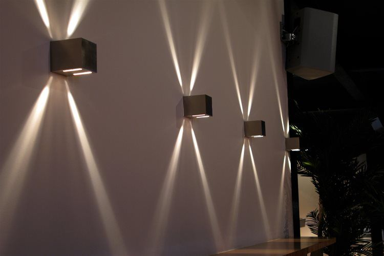 Cube Wall Single Frosted Glass 240v 25w Nickel Exterior Wall Light Modern Wall Lamp Led Wall Lights