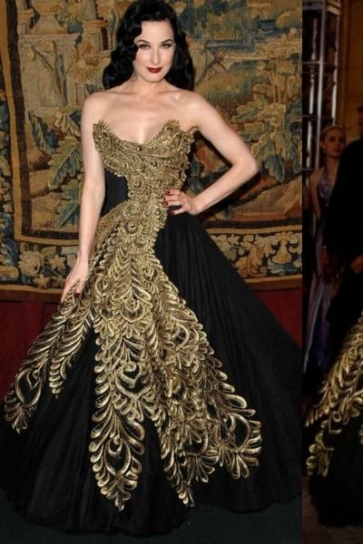81f58cdf53 Marchesa Black and Gold Dress...reminds me of the Blair Waldorf prom dress  in season 2. LOVE!