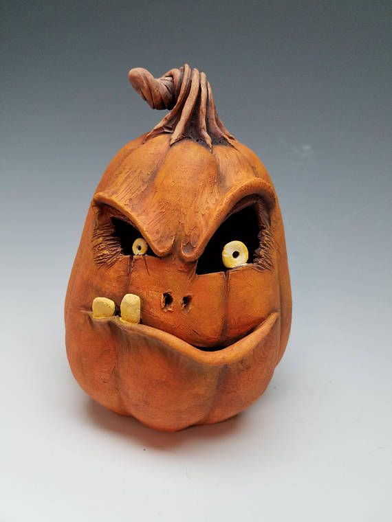 Wicked jack clay pumpkin halloween i adore