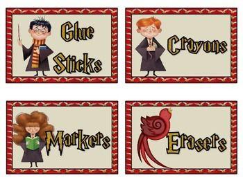 Harry Potter Classroom Labels Harry Potter Classroom Harry Potter School Harry Potter Decor