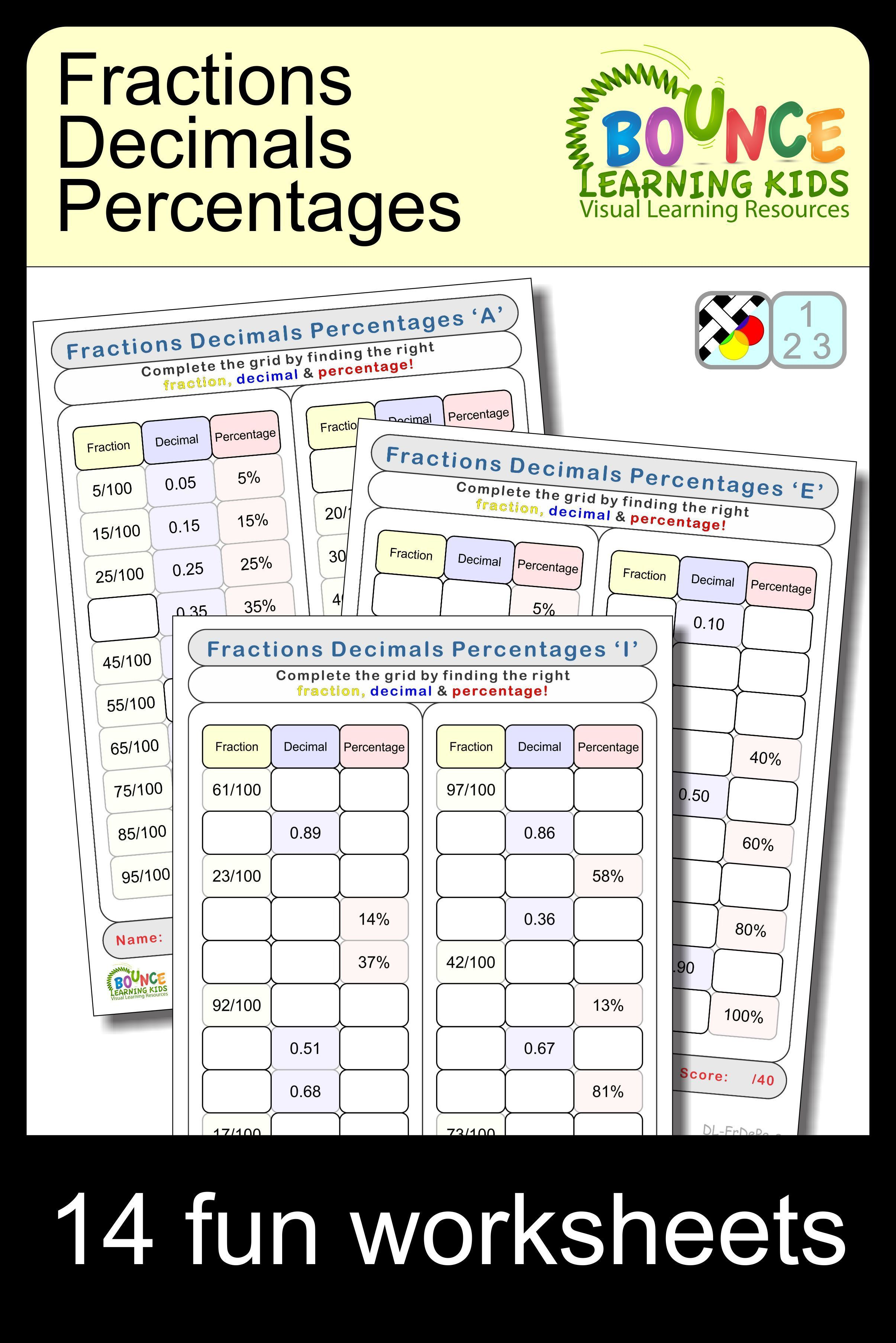 Fractions Decimals Percentages 9 Distance Learning