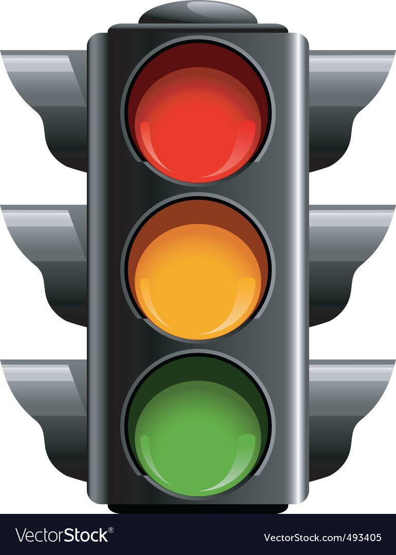 Traffic Light Vector Image On Vectorstock Traffic Light Stop Light Red Traffic Light