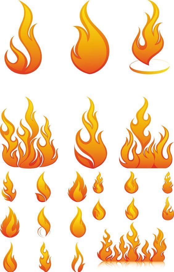 Flammen Ausmalbild Malvorlage Gemischt