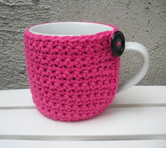 Pink Coffee Mug Cozy With Built In