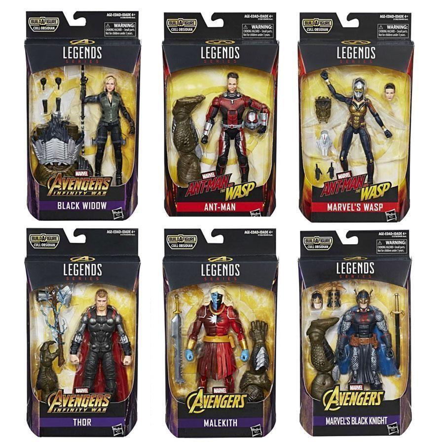 Marvel Legends Avengers Infinity War Set of 6 Action Figures Cull Obsidienne BAF