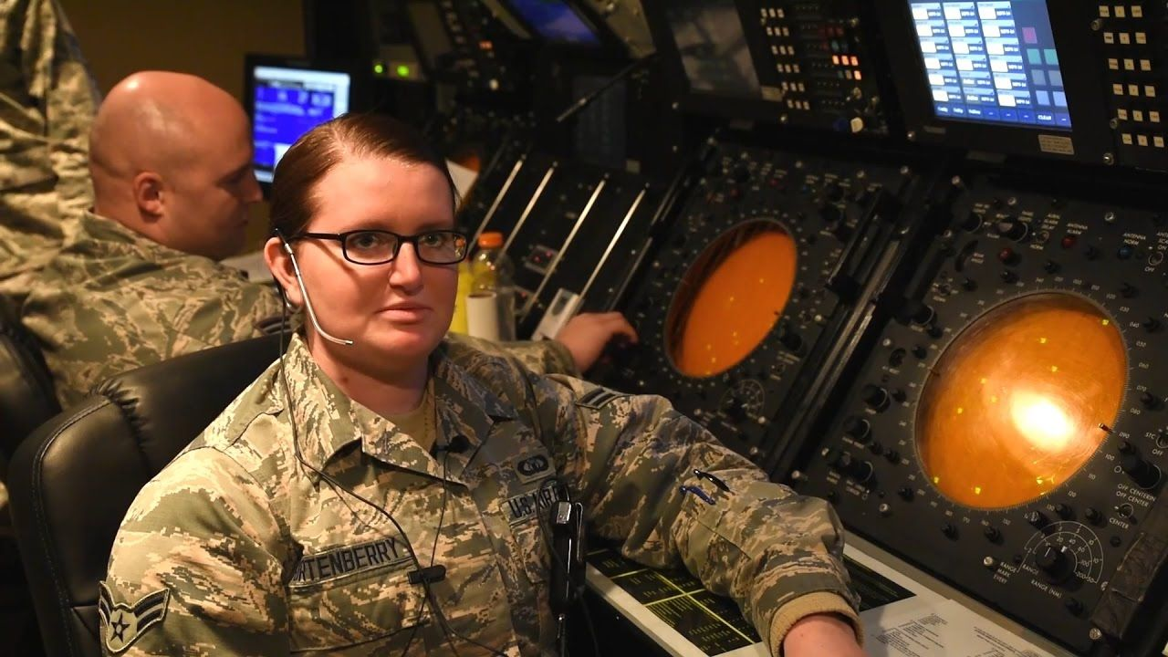Members of the 243rd Air Traffic Control Squadron of the