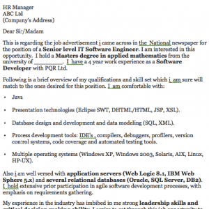 Sample It Cover Letter Examples  Templates  Software Engineer