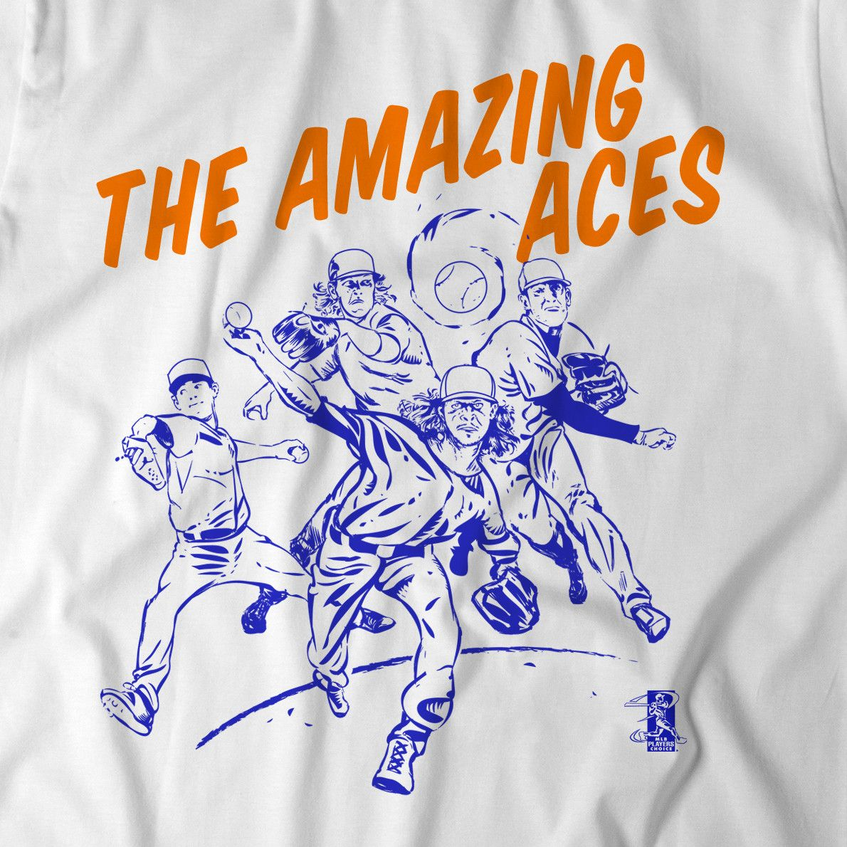 OUT OF RETIREMENT BY POPULAR DEMAND! Jacob deGrom, Noah Syndergaard, Matt Harvey, Steven Matz: these guys are superheroes. They are the Amazing Aces. Commemorate the most feared rotation in the league