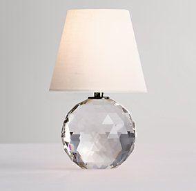 Mini Lourdes Crystal Ball Lamp With Shade Restoration Hardware Kids