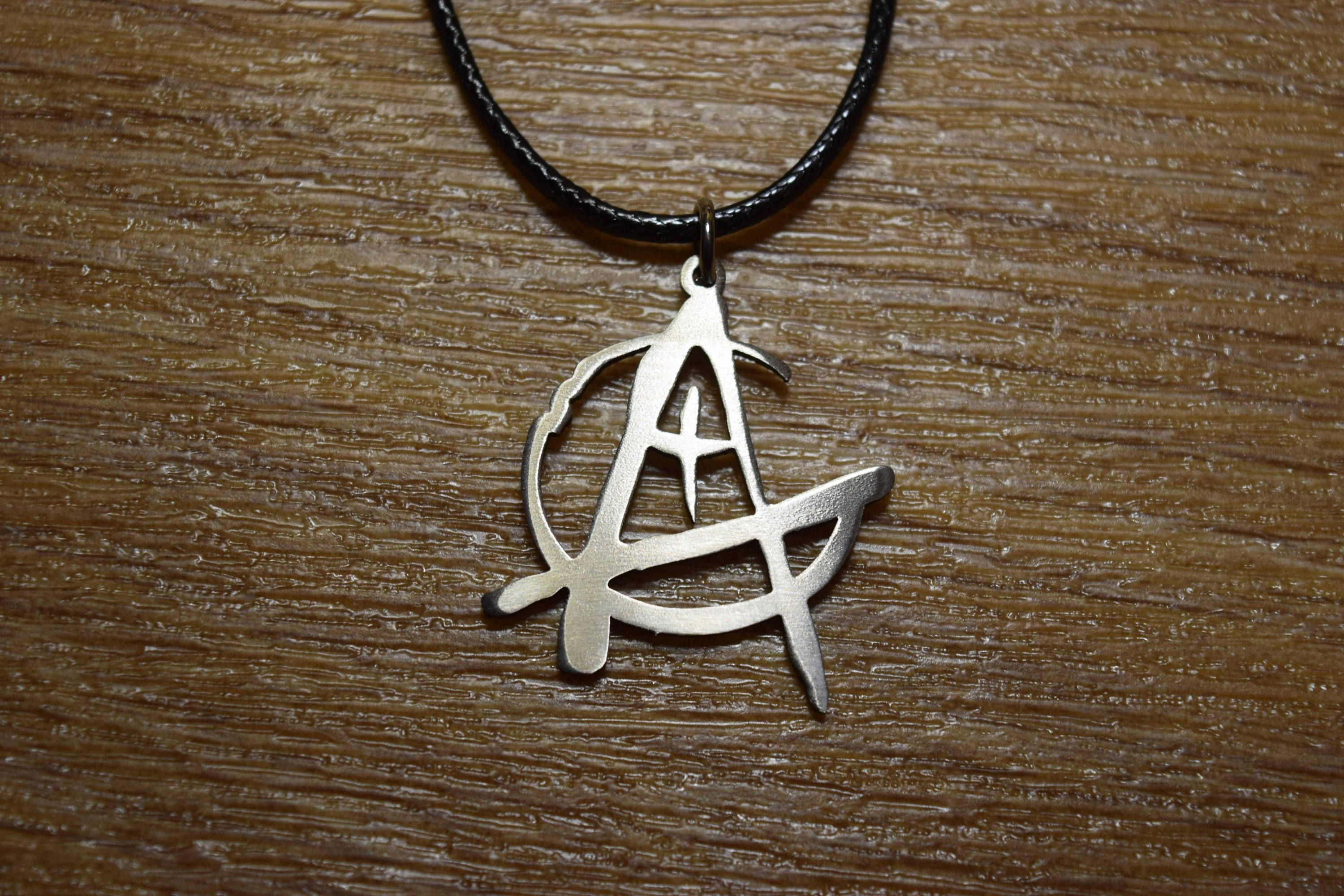 Christian Anarchist Anarchism Necklace Anarcho Anarchy Cross Logo