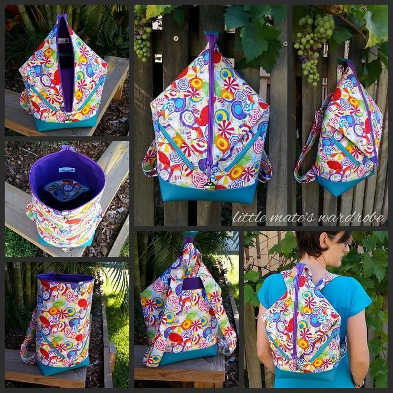 Andrea\'s Rucksack Backpack Pattern | Purse patterns free, Bag sewing ...
