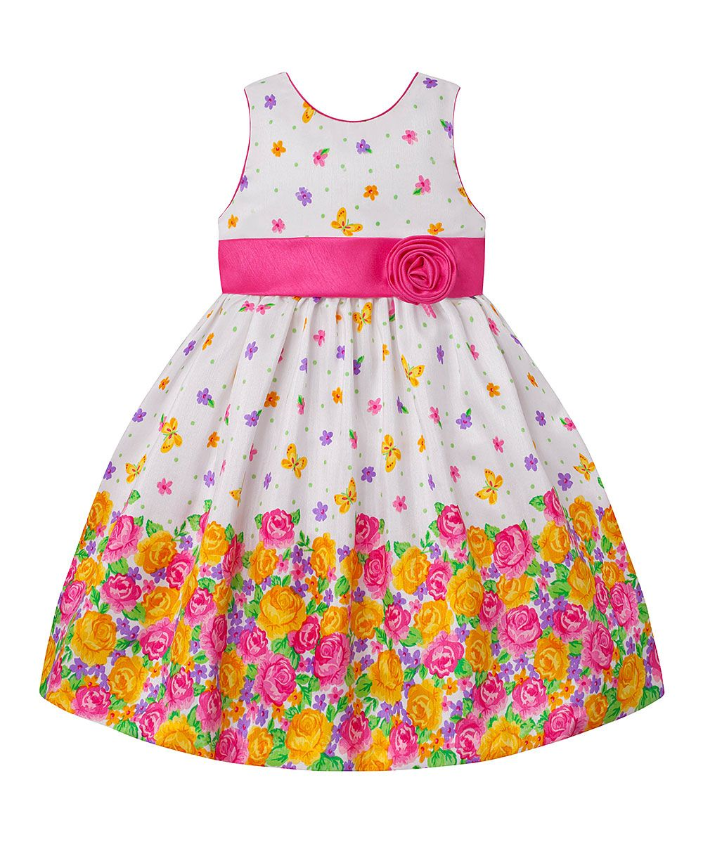 0cca4cdd7 Pink   White Floral A-Line Dress - Toddler   Girls