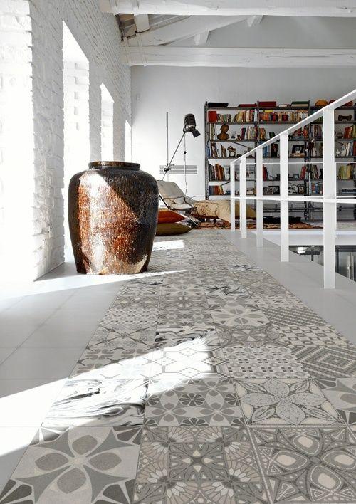 Encaustic Cement Tiles Same Size Same Colors Different