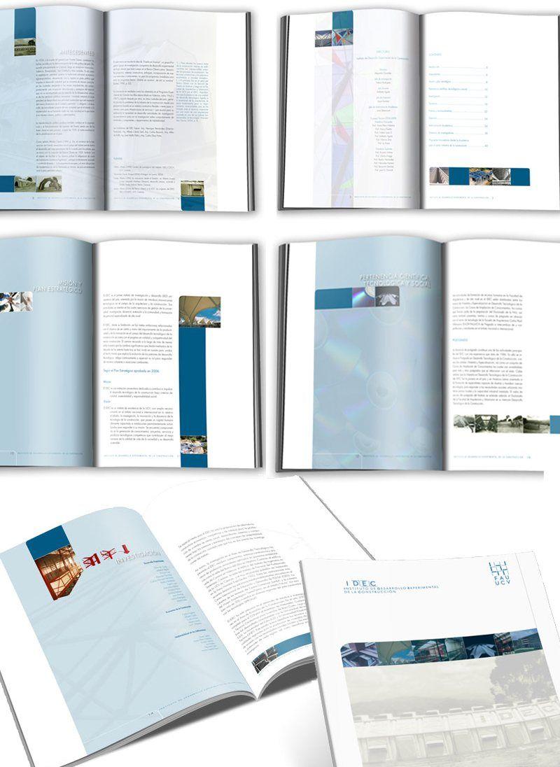 Diseño y diagramación folleto Instituto de Desarrollo Experimental de la Construcción. FAU. UCV.