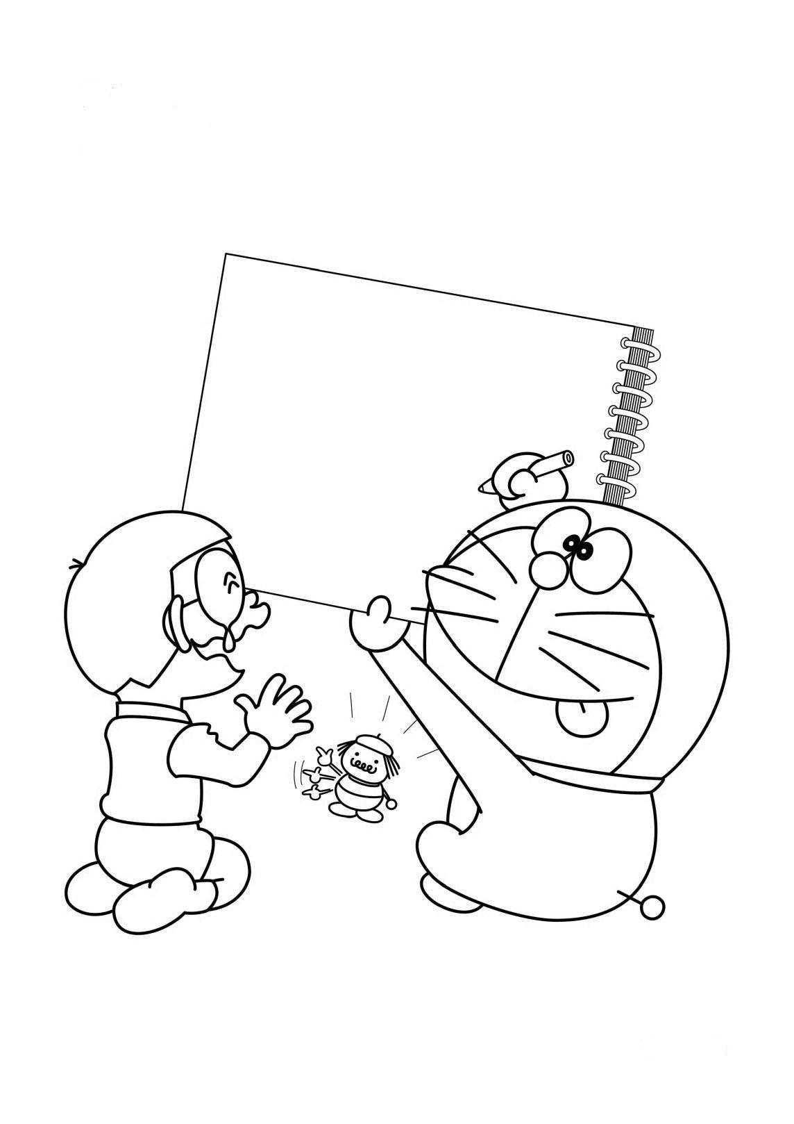Doraemon draws for nobita coloring page boys pages of