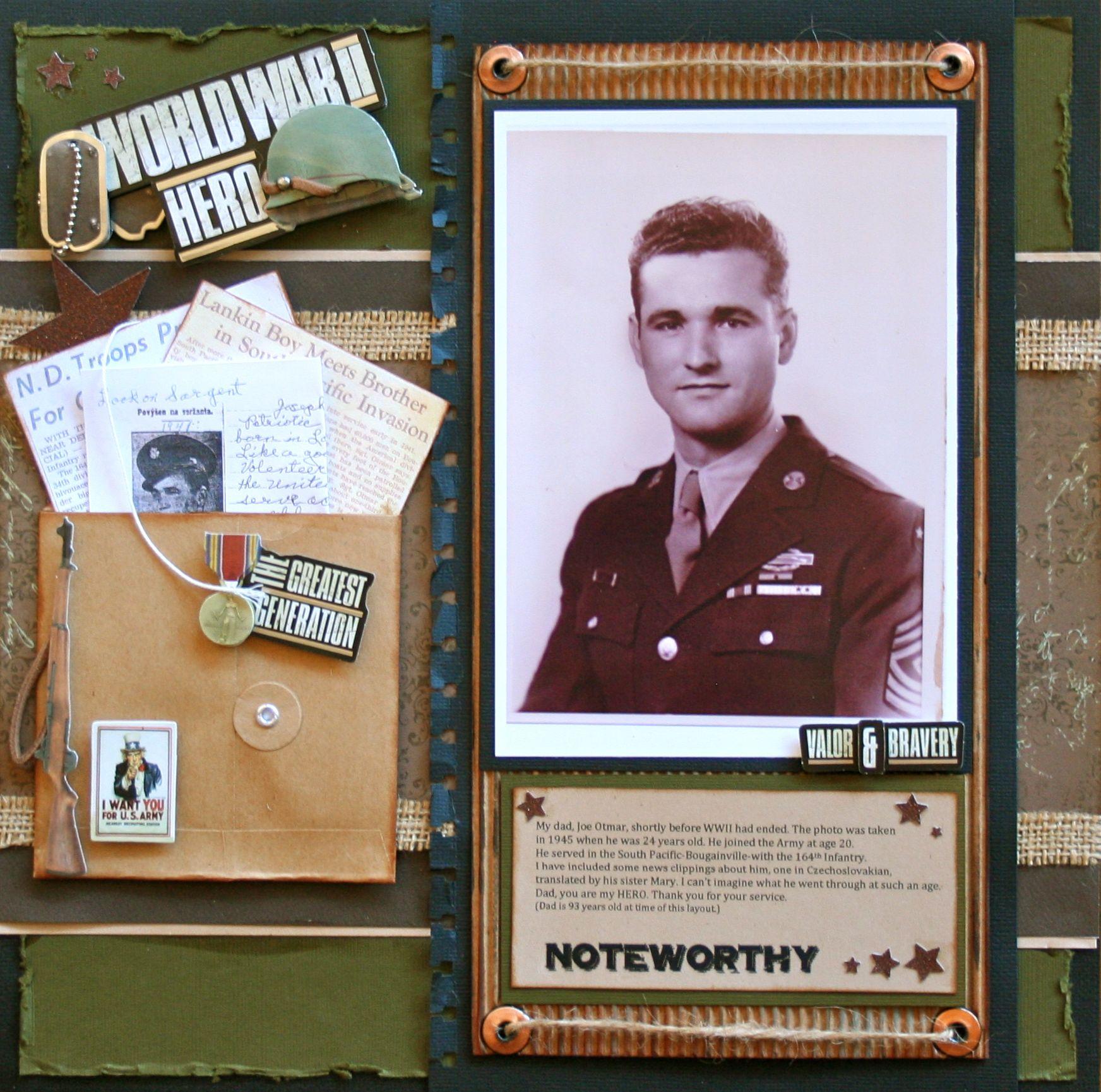 Family scrapbook ideas on pinterest - World War Ii Hero Scrapbook Com