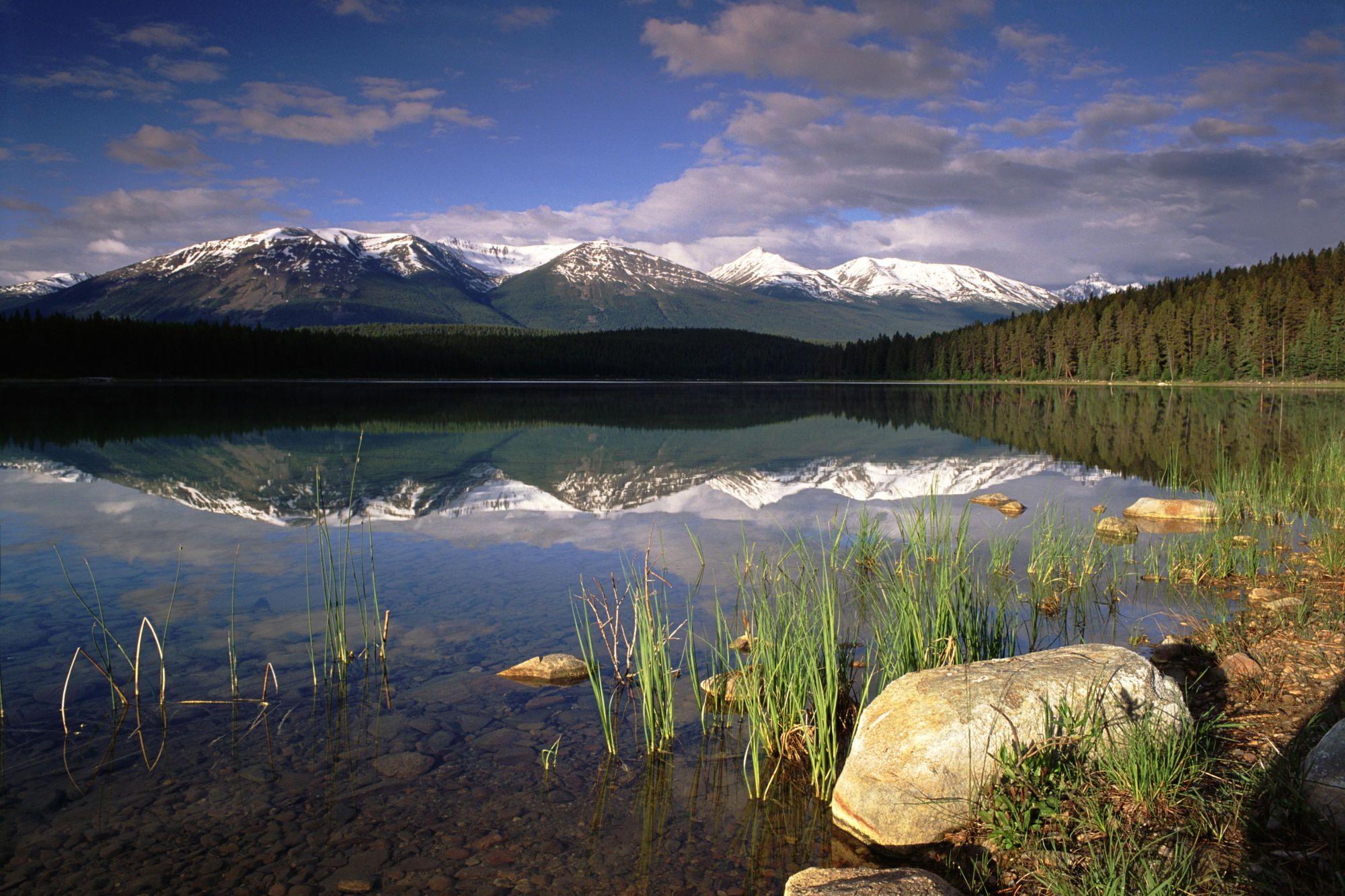 Spirit Island Maligne Lake Jasper National Park Alberta Canada. LIVE IT WITH JUMP! Source Unknown