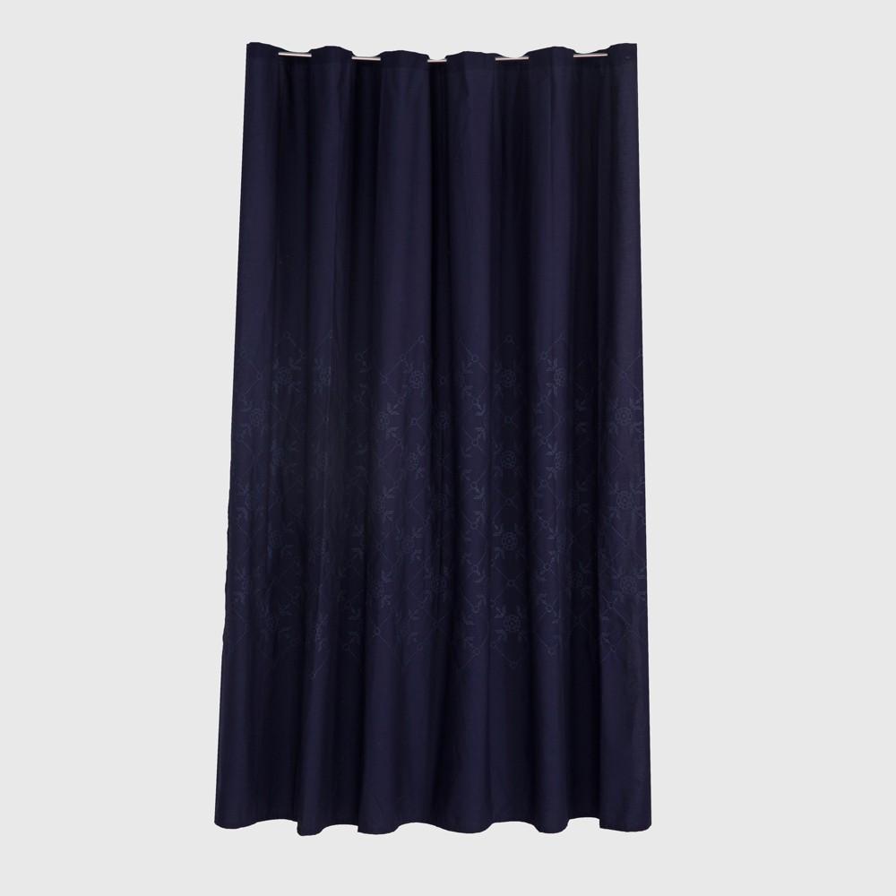 Embroidered shower curtain xavier navy threshold pinterest
