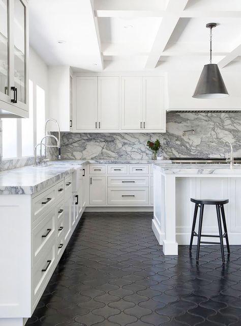 Gorgeous Marble Kitchen Kitchen Design Kitchen Flooring Kitchen Renovation