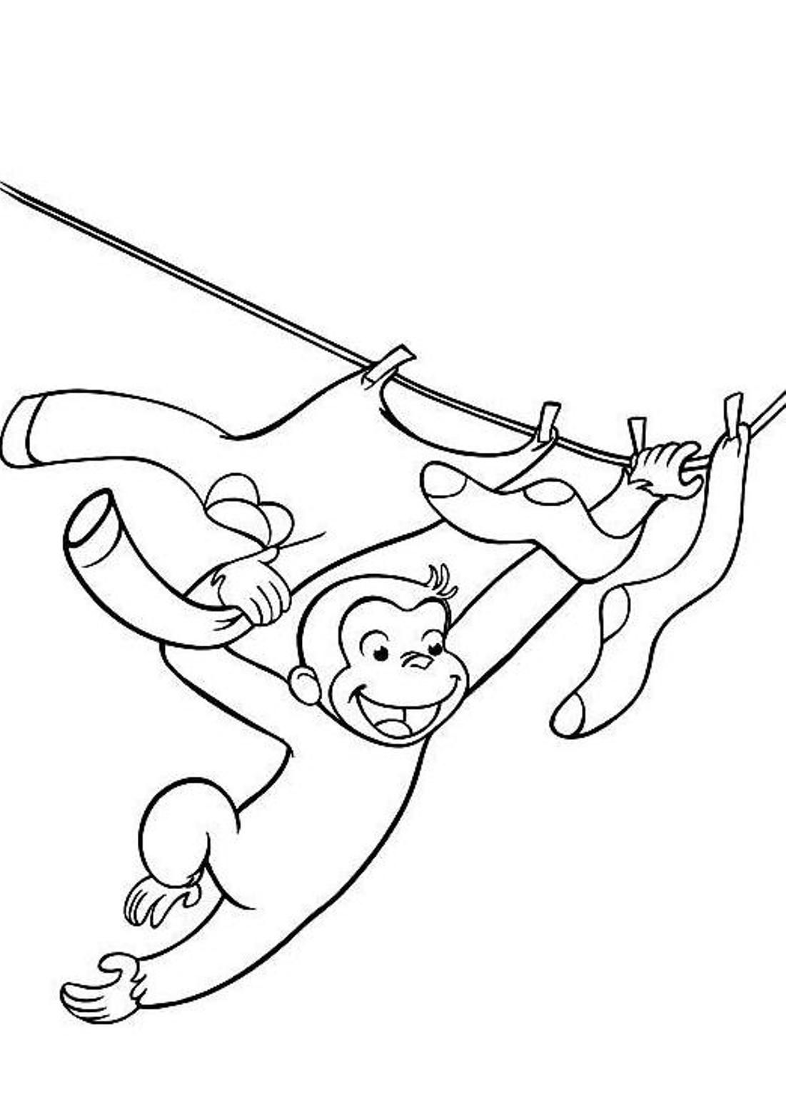 Printable coloring pages curious george - Curious George Coloring Pages 1st B Day Pinterest Curious George Free Coloring And Monkey
