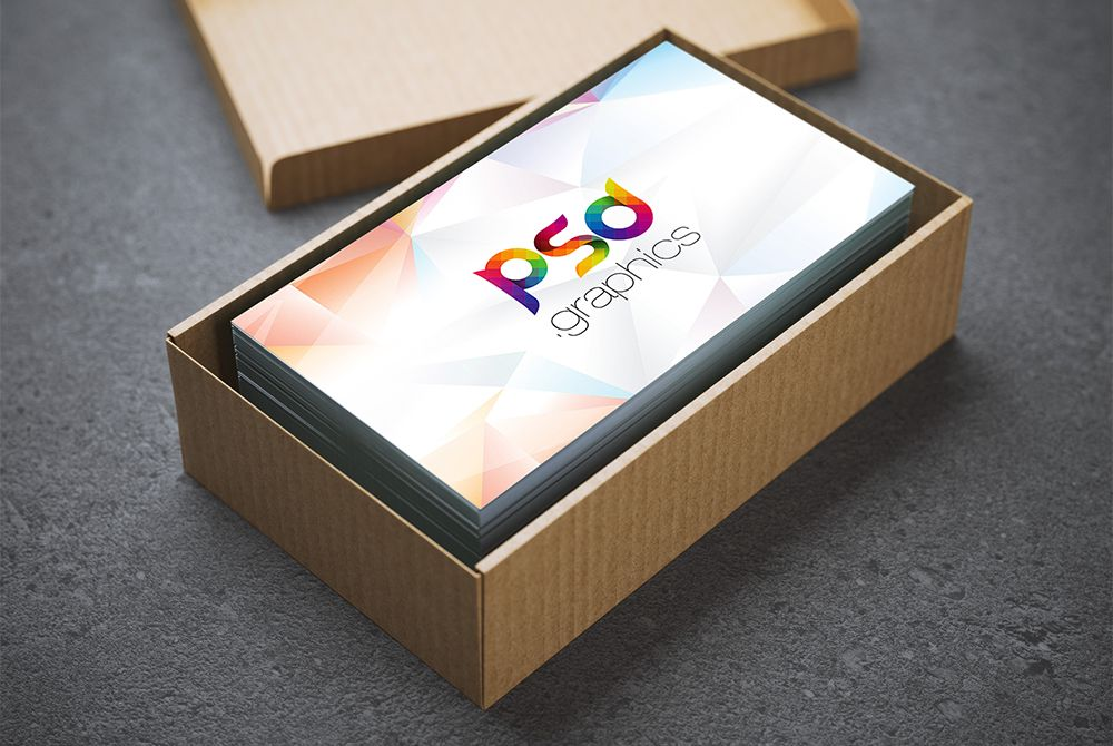 Cool Business Card In Cardboard Box Mockup Free Psd Download Business Card In Cardbo Business Card Mock Up Free Business Card Mockup Business Cards Mockup Psd