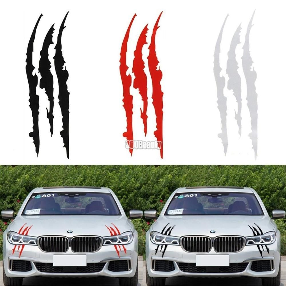 2x Car Racing Stickers Decals Motocross Motorcycle Bike reflective Decal Sticker
