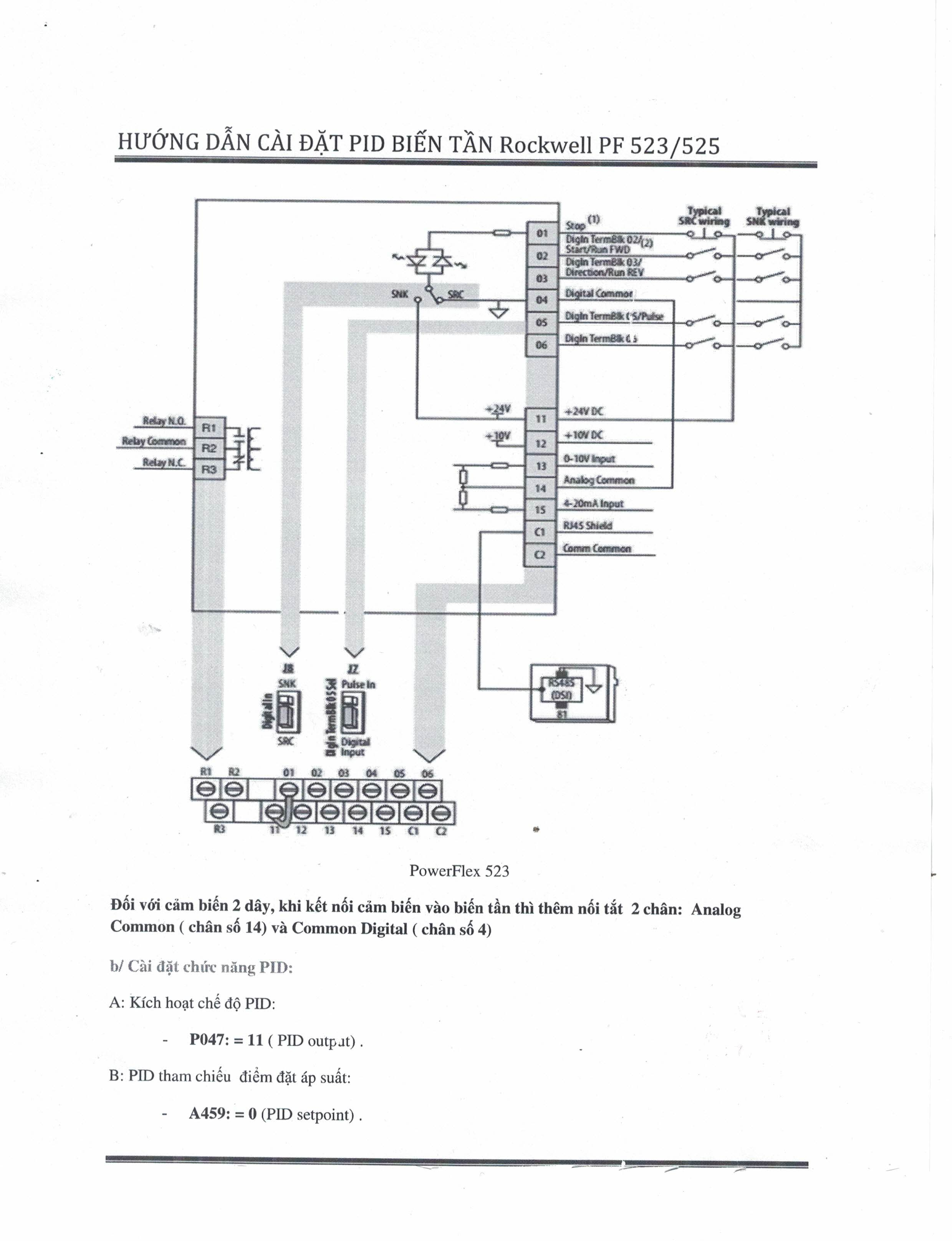 powerflex 525 control wiring diagram
