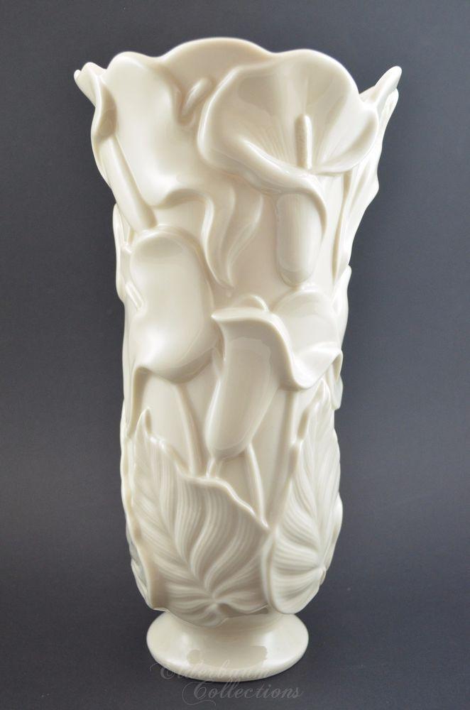 Lenox Vase Calla Lily Ivory Vintage Porcelain Rare Wedding Gift 10