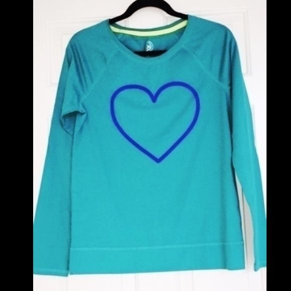 NWT Blue Long Sleeve Heart Pajama Top Brand new with tag, never worn, sleep/ pajama long-sleeve teal shirt with purple/blue heart on front. Material is soft, comfy and lightweight.   FEEL FREE TO MAKE ME AN OFFER!  Please message me directly with questions or requests for more photos.  #pajamas #pjs #intimates #juniors #womens #longsleeve #heart #comfy #night #sleepwear SO Intimates & Sleepwear Pajamas