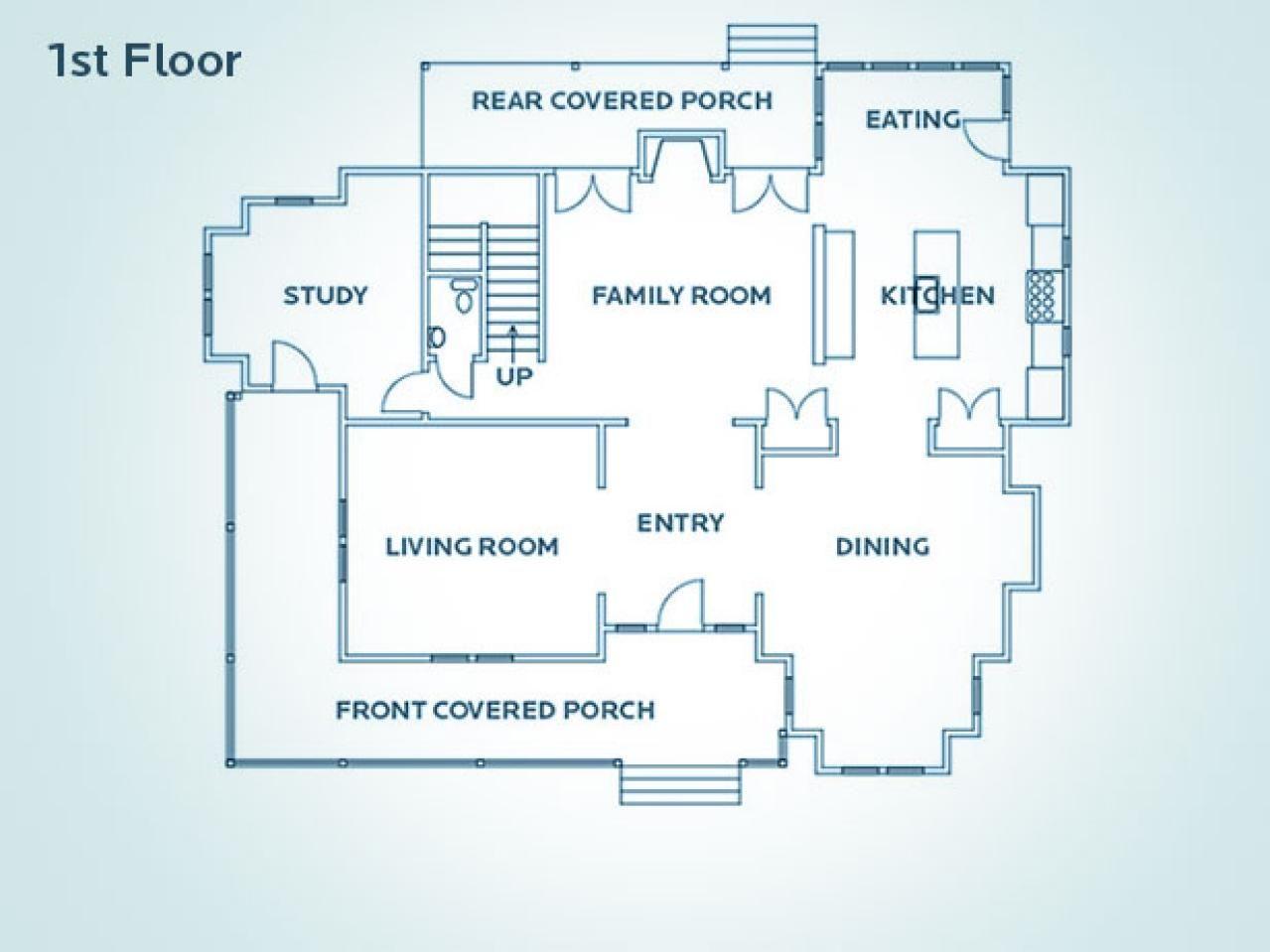 Floor Plan for HGTV Dream Home 2009 Free floor plans