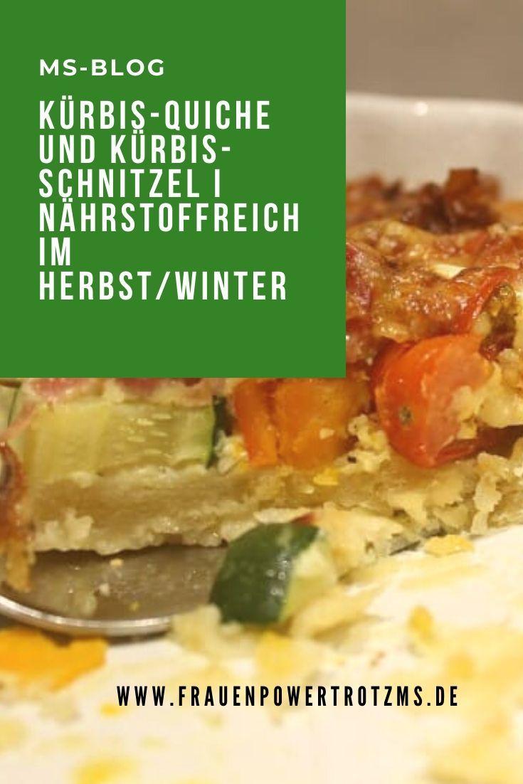 Kürbis-Quiche und Kürbis-Schnitzel I nährstoffreich im Herbst/Winter #rezepteherbst