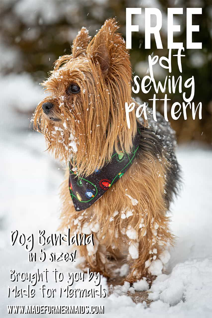 FREE Dog Bandana Pattern Dog bandana, Christmas tree