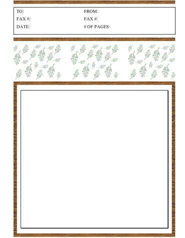 This printable fax cover sheet is perfect for fall, with a brown - cover sheet for fax