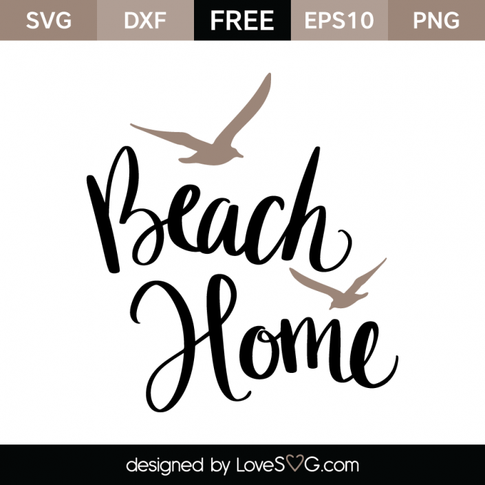 Download Beach Home | Lovesvg.com | Svg free files, Free svg, Cricut