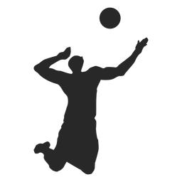 Male Volleyball Player Silhouette Silhouette Silhouette Png Volleyball Players