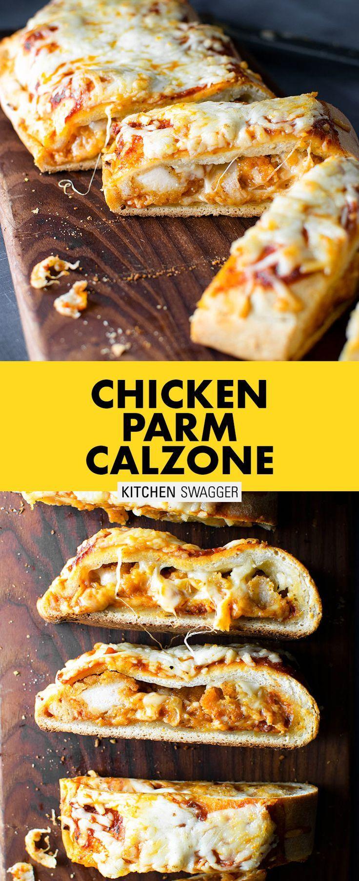 Chicken Parmesan Calzone Recipe   Kitchen Swagger