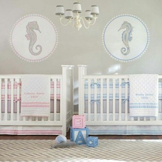 Babu room ideas for twins ♡♡ | Nursery | Nursery twins ...