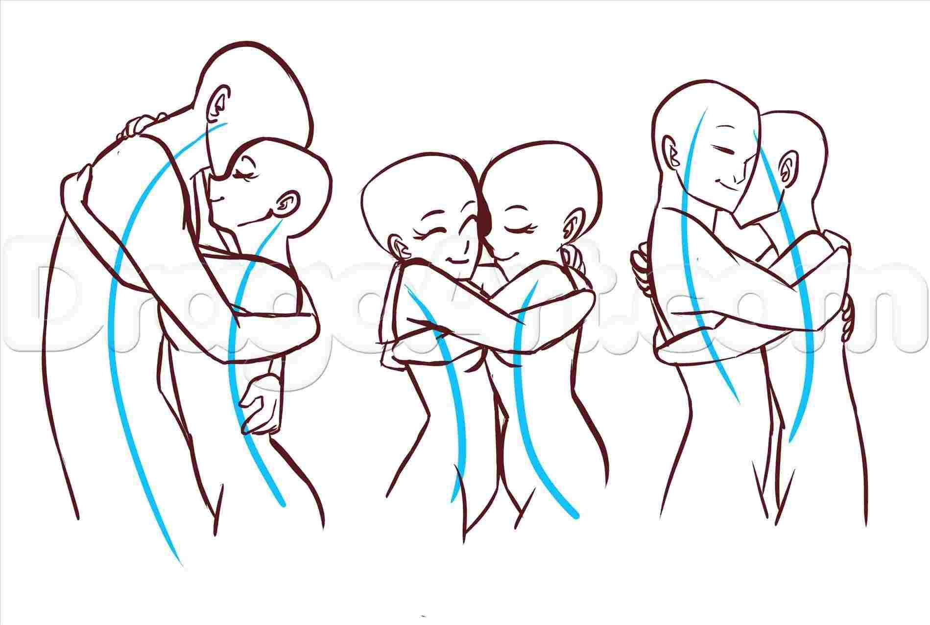 Necessary Lessons Easy How To Draw People Hugging Easy How To Draw People Hugging In 2020 Drawing People Drawing Reference Drawing Tutorial