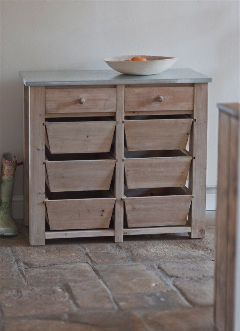 Chunky Storage Unit Crafted In Spruce With  Spacious Drawers