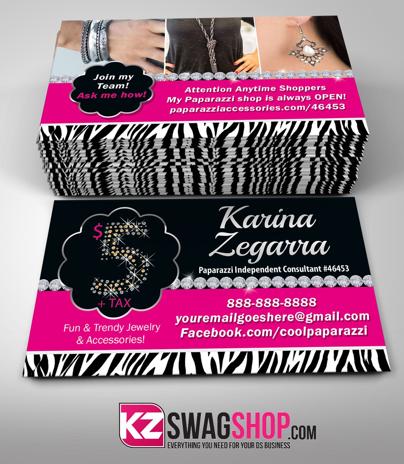 Paparazzi business cards style from kz creative services