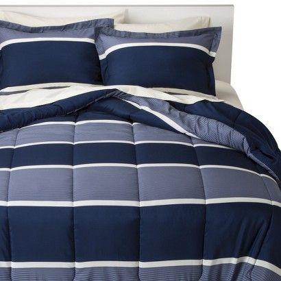 Room Essentials Classic Stripe Bed In A Bag Striped Bedding Bedding Sets Comforter Sets